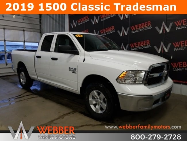 New 2019 Ram 1500 CLASSIC TRADESMAN QUAD CAB 4X4 6'4 BOX Quad Cab Near Fargo