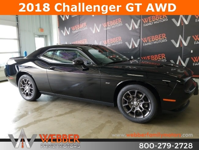 New 2018 Dodge Challenger GT ALL-WHEEL DRIVE Coupe Near Fargo