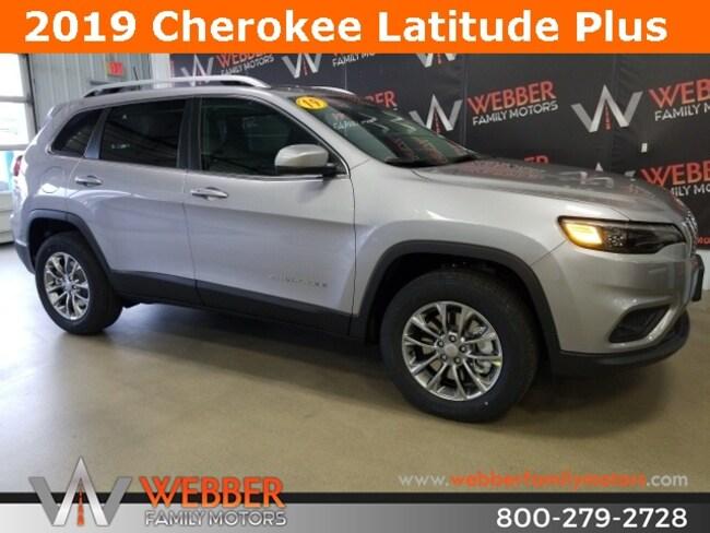 New 2019 Jeep Cherokee LATITUDE PLUS 4X4 Sport Utility Near Fargo