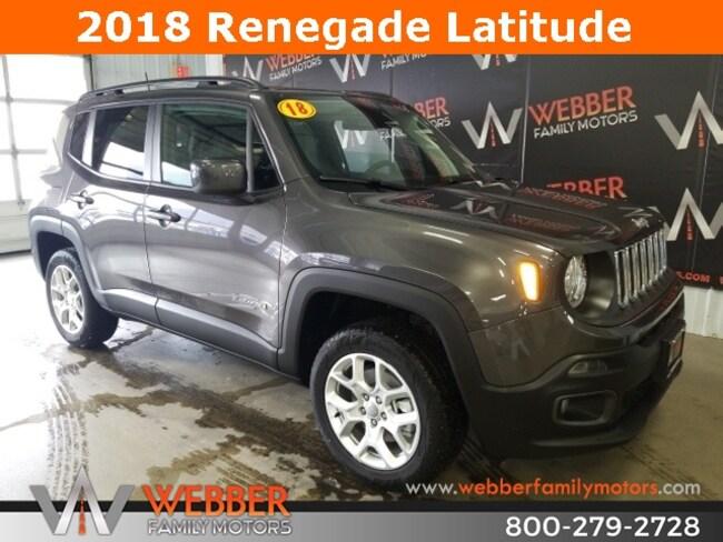 New 2018 Jeep Renegade LATITUDE 4X4 Sport Utility Near Fargo