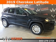 New Chrysler Dodge Jeep Ram models 2019 Jeep Cherokee LATITUDE 4X4 Sport Utility 1C4PJMCX2KD382863 for sale in Detroit Lakes, MN