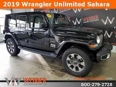 New Chrysler Dodge Jeep Ram models 2019 Jeep Wrangler UNLIMITED SAHARA 4X4 Sport Utility 1C4HJXEG5KW533119 for sale in Detroit Lakes, MN