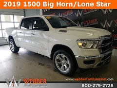 New Chrysler Dodge Jeep Ram models 2019 Ram 1500 BIG HORN / LONE STAR CREW CAB 4X4 5'7 BOX Crew Cab 1C6SRFFT0KN762213 for sale in Detroit Lakes, MN