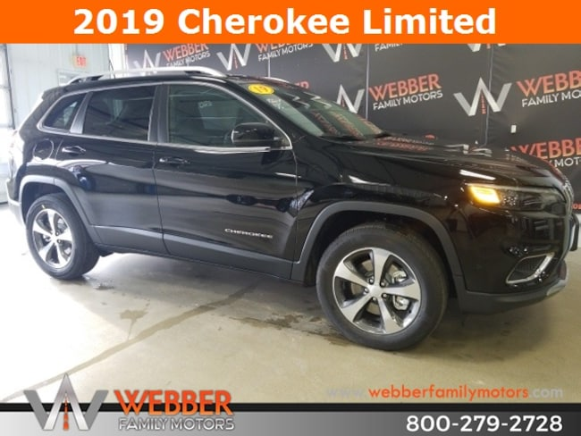 New 2019 Jeep Cherokee LIMITED 4X4 Sport Utility Near Fargo