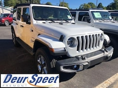 New Chrysler Dodge Jeep Ram 2018 Jeep Wrangler UNLIMITED SAHARA 4X4 Sport Utility for sale in Fremont, MI