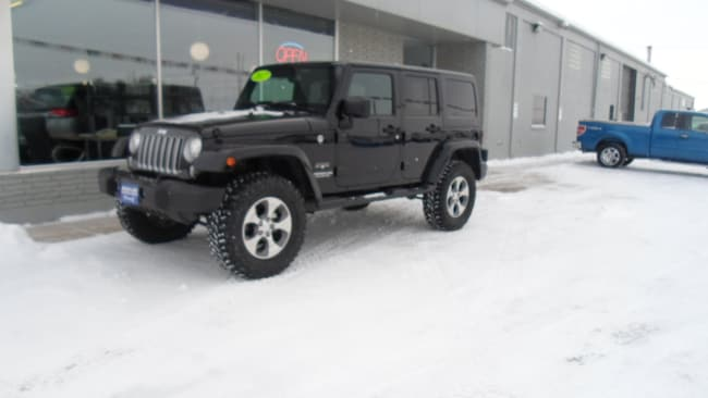 Used 2017 Jeep Wrangler JK Unlimited Sahara 4x4 SUV for sale in Devils Lake, ND