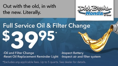 Full Service Oil and Filter Change