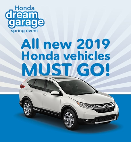 All New 2019 Honda Vehicles Must Go!
