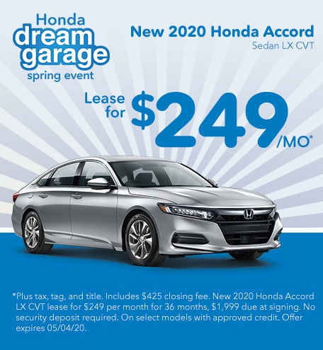 April 2020 Accord Lease
