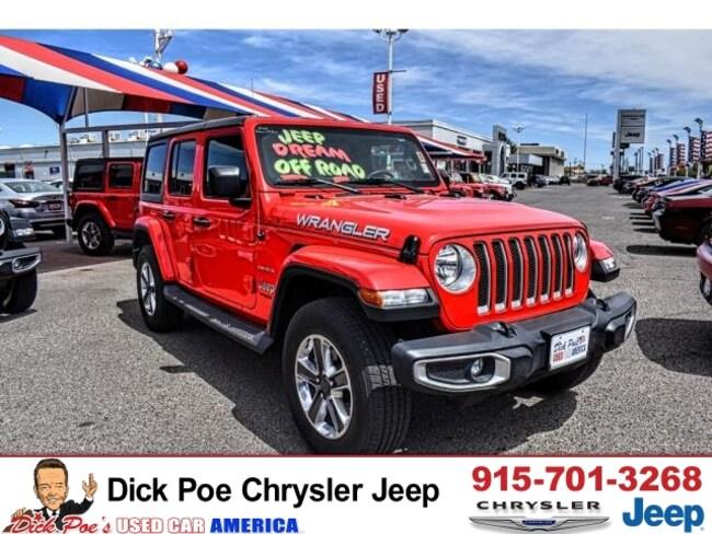 Used 2018 Jeep Wrangler Unlimited Sahara 4X4 in El Paso