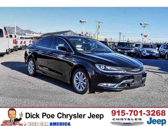 Used 2015 Chrysler 200 C FWD Sedan in El Paso