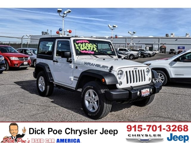 used 2016 jeep wrangler 4wd sport for sale el paso tx near las cruces horizon city vin. Black Bedroom Furniture Sets. Home Design Ideas
