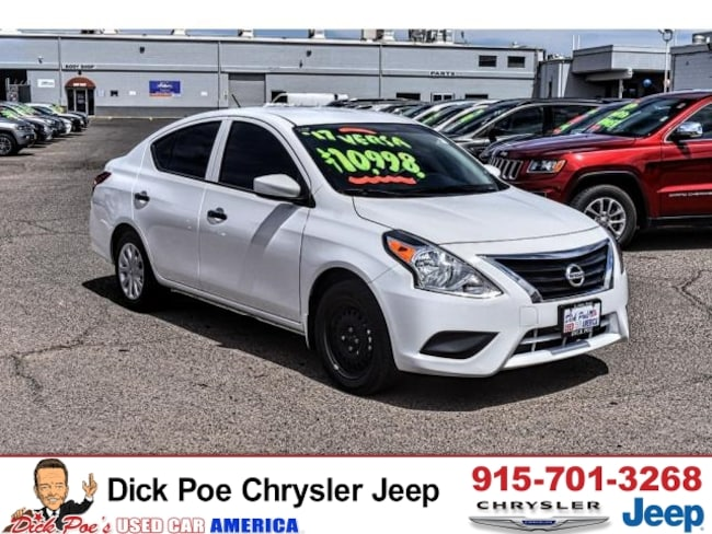Cars For Sale El Paso >> Used 2017 Nissan Versa Sedan S Auto For Sale El Paso Tx Near