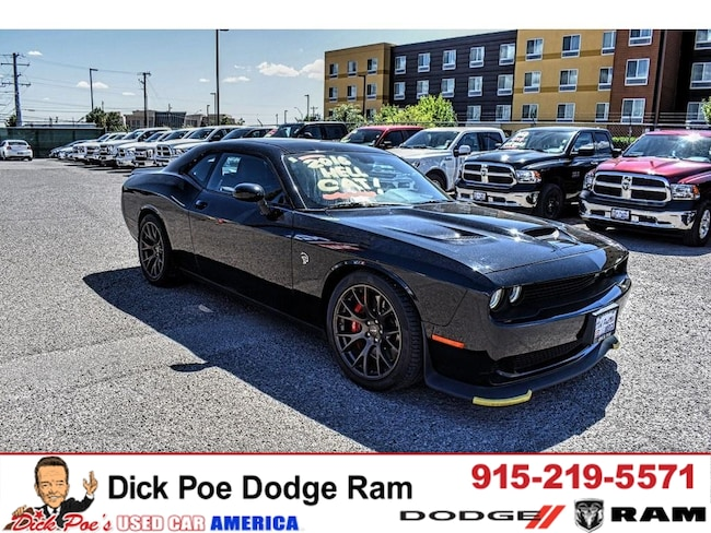Used 2016 Dodge Challenger 2DR CPE SRT Hellcat coupe in El Paso, TX