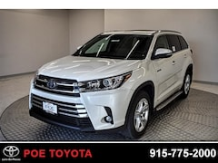 New 2019 Toyota Highlander Hybrid Limited V6 SUV in El Paso, TX