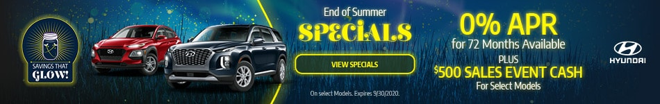 2020 - End of Summer Specials - September