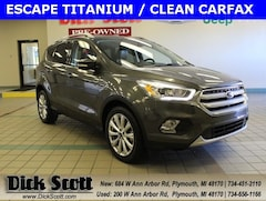 Used 2017 Ford Escape Titanium SUV for sale in Plymouth, MI