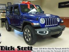 New 2018 Jeep Wrangler UNLIMITED SAHARA 4X4 Sport Utility for sale in Plymouth MI