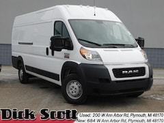 New 2019 Ram ProMaster 3500 CARGO VAN HIGH ROOF 159 WB EXT Extended Cargo Van for sale in Plymouth MI