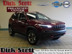 Certified Pre-Owned 2019 Jeep Cherokee Trailhawk SUV for sale in Plymouth, MI