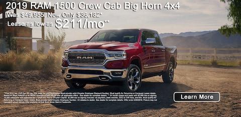 2019 RAM 1500 Crew Cab Big Horn 4x4
