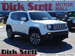 Certified Pre-Owned 2017 Jeep Renegade Latitude 4x4 SUV for sale in Fowlerville, MI