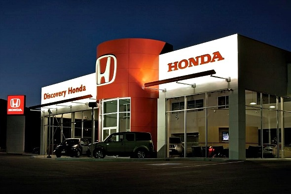 Discovery Honda at night.jpg
