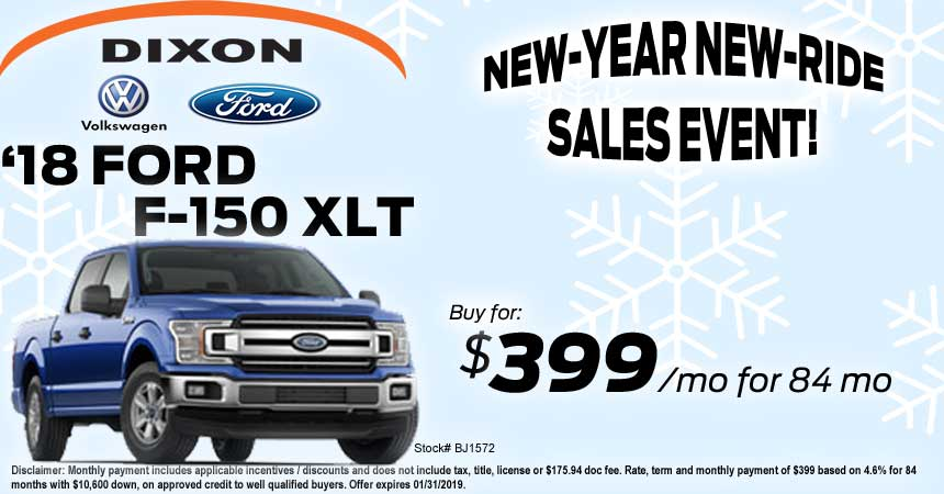 Dixon Ford F150 XLT Special | Dixon Ford VW