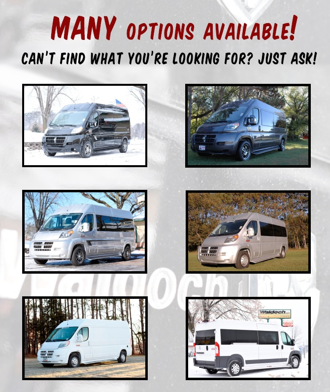 Come into Dodge of Burnsville to learn more about Luxury Conversion Vans