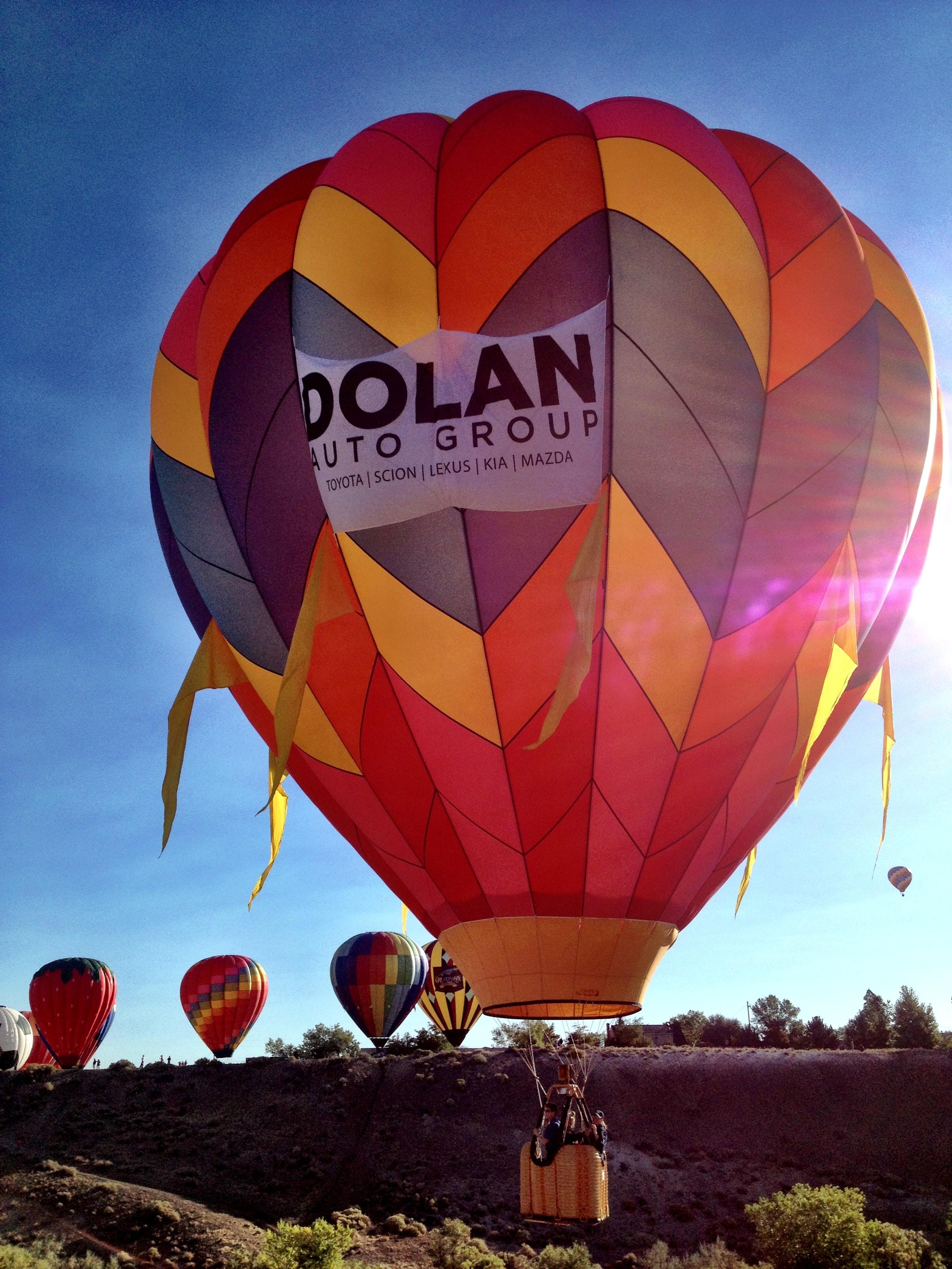 dolan toyota takes the skies at the great reno balloon races