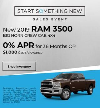 New 2019 3500 Ram Big Horn Crew Cab 4x4