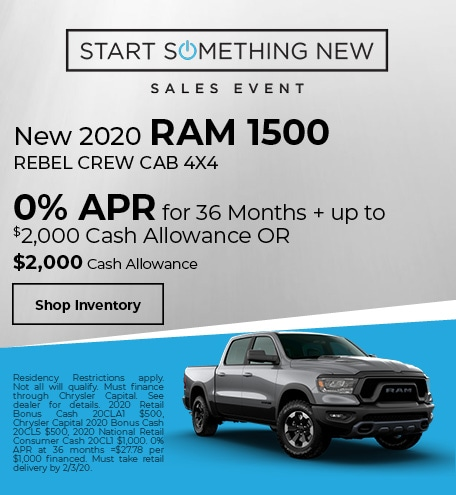 New 2020 Ram 1500 Crew Cab Rebel 4x4