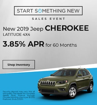 New 2019 Jeep Cherokee Latitude 4x4