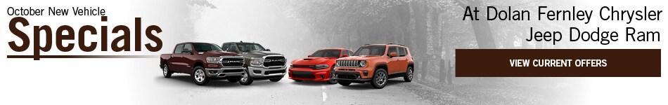 October New Vehicle Specials