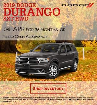 2019 Dodge Durango SXT RWD