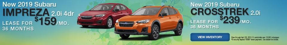 New 2019 Subaru Impreza and Crosstrek