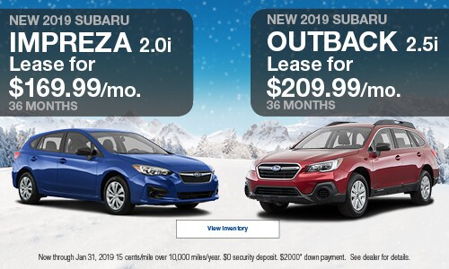2019 Subaru Impreza  & 2019 Subaru Outback