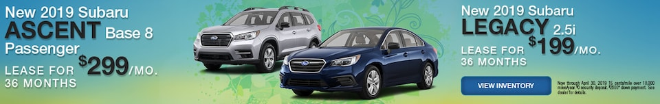 New 2019 Subaru Ascent and Legacy