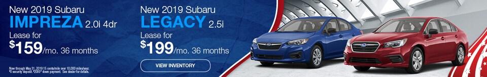 New 2019 Subaru Impreza 2.0i 4dr & New 2019 Subaru Legacy 2.5i