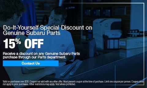 Parts & Accessories Specials | Donaldsons Subaru