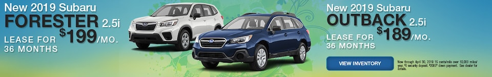New 2019 Subaru Forester and Outback