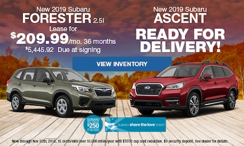 New 2019 Subaru Forester 2.5i & 2019 Subaru Ascent