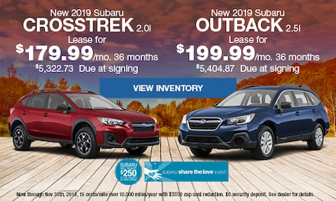 New 2019 Subaru Crosstrek & Outback