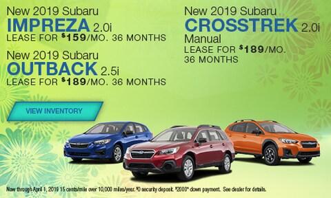 New 2019 Subaru Impreza, Crosstrek and Outback