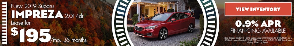 2019 Subaru Impreza | Lease Offer | October