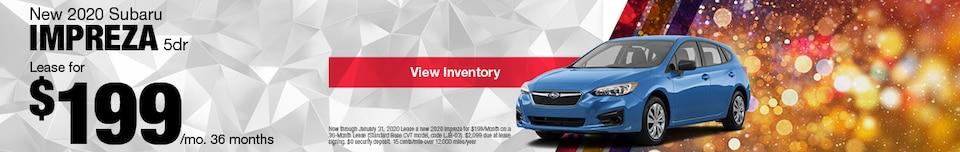 New 2020 Subaru Impreza 5dr