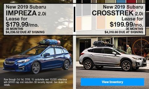 New 2019 Subaru Impreza and Crosstrek Models