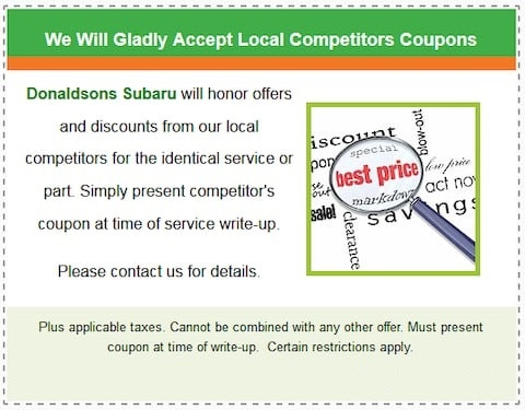 We Will Gladly Accept Local Competitor's Coupons