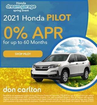 New 2021 Honda Pilot | 0% APR