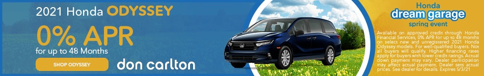 New 2021 Honda Odyssey | 0% APR